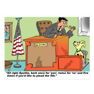 Judge Speaks To Dog On Witness Stand Postcard