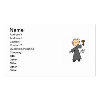 Judge Stick Figure Business Card
