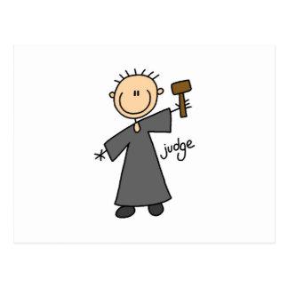 Judge Stick Figure Post Card