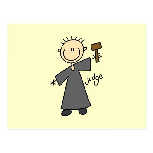 Judge Stick Figure Postcards