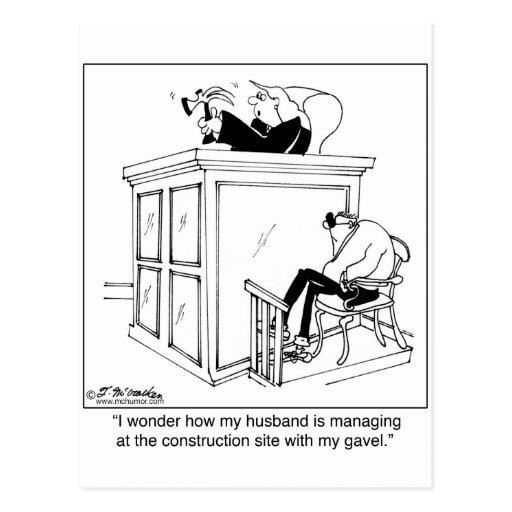 Judge Uses a Hammer, Not a Gavel Postcard