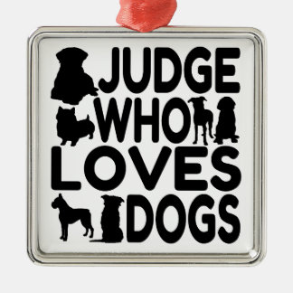 Judge Who Loves Dogs Christmas Ornament