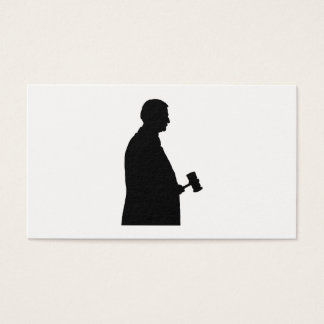 Judge With Gavel Silhouette Business Card