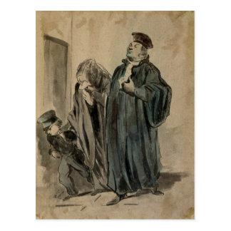 Judge, Woman and Child Postcard
