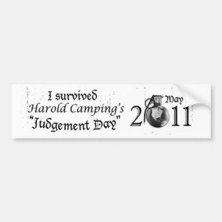 Judgement Day Bumper Sticker