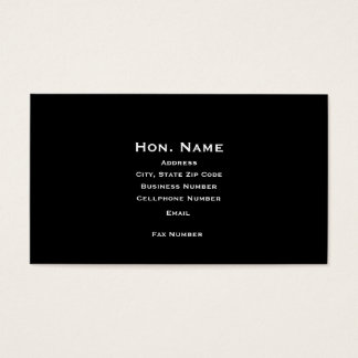 Judge's Business Card