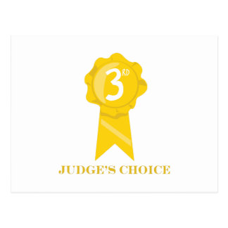 Judges Choice Postcard