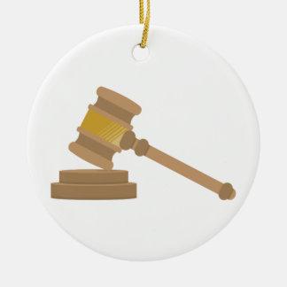 Judges Gavel Round Ceramic Decoration