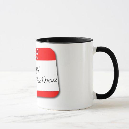 Judgey McHolierthanthou Mug