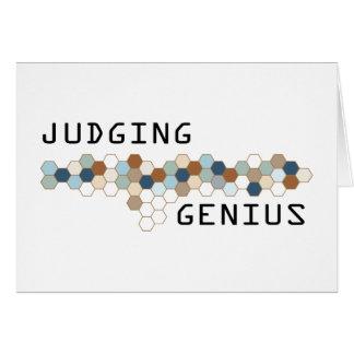 Judging Genius Greeting Card