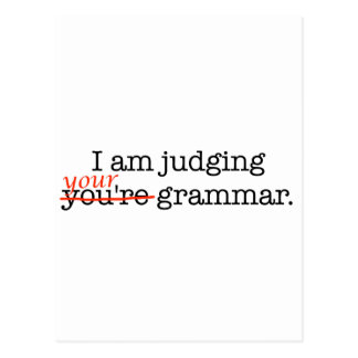 Judging Your Grammar Postcard