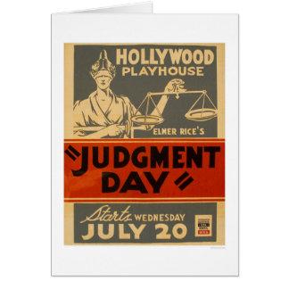 Judgment Day Mayan 1938 WPA Greeting Card