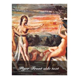 Judgment Of Paris By Paul Cézanne (Best Quality) 21.5 Cm X 28 Cm Flyer