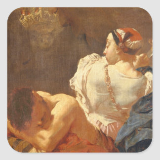 Judith and Holofernes Square Sticker