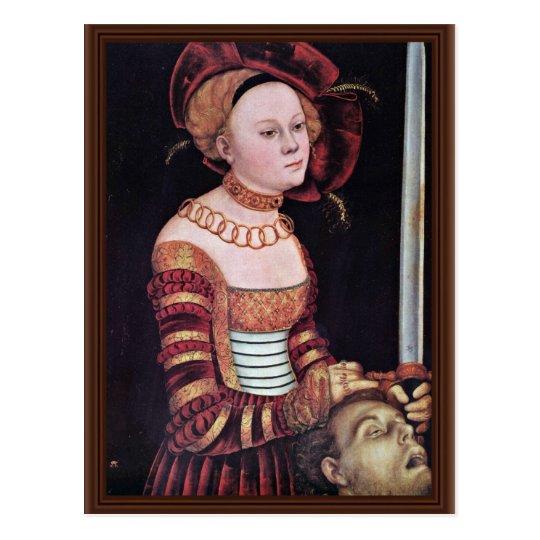 Judith By Cranach D. Ä. Lucas (Best Quality) Postcard