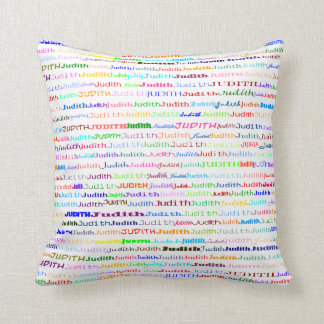 Judith Text Design II Throw Pillow