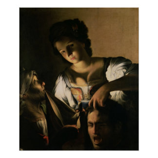 Judith with the head of Holofernes, 1615 Poster