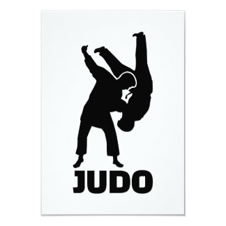 Judo 9 Cm X 13 Cm Invitation Card