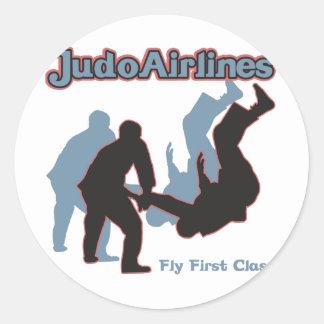 Judo Airlines Round Stickers