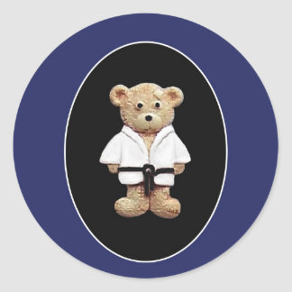 Judo Black Belt Classic Round Sticker