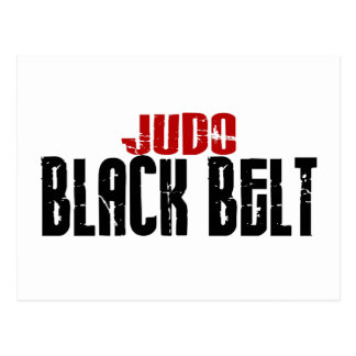 Judo Black Belt Postcard
