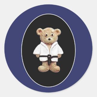 Judo Black Belt Round Sticker