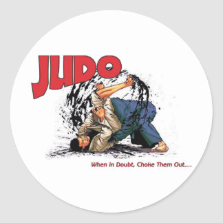 Judo Choke Out Classic Round Sticker