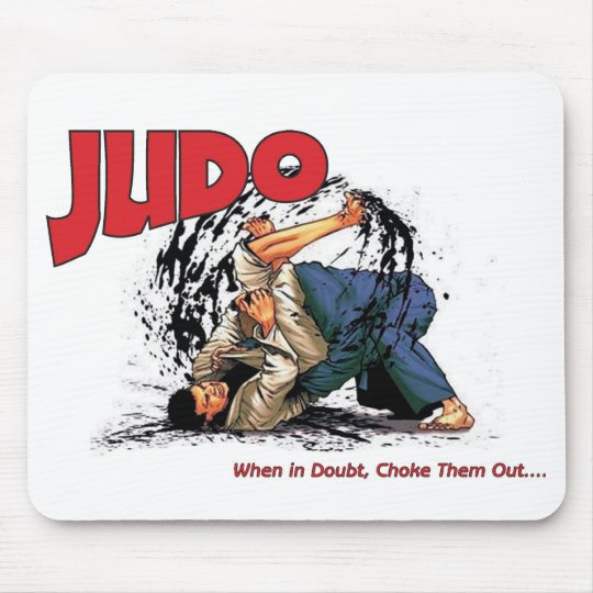Judo Choke Out Mouse Mat