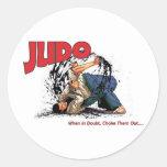Judo Choke Out Round Sticker