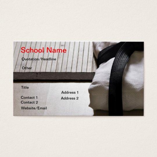 Judo Gi on Tatami mat Business Card