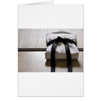 Judo Gi on Tatami mat Card