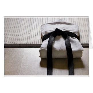 Judo Gi on Tatami mat Card