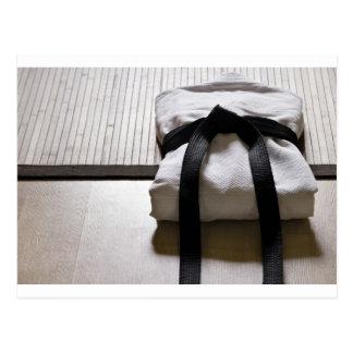 Judo Gi on Tatami mat Post Card