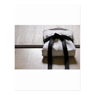Judo Gi on Tatami mat Postcard
