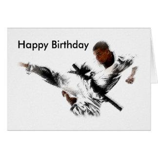 Judo, Happy Birthday Greeting Card