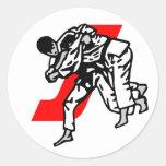 judo  ju jitsu round sticker