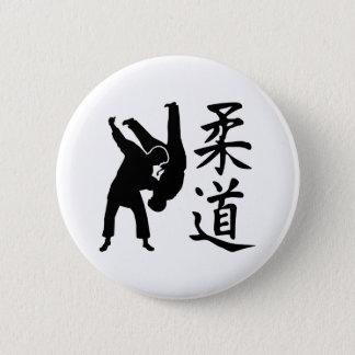 Judo kanji 6 cm round badge