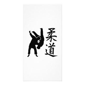 Judo kanji personalized photo card
