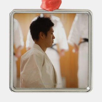 Judo Master Kneeling On a Mat Christmas Ornament