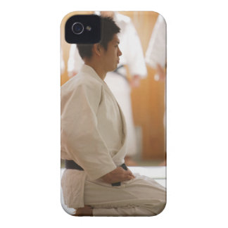 Judo Master Kneeling On a Mat iPhone 4 Case-Mate Cases