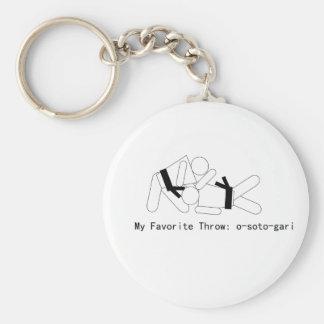 Judo My Fav Throw Osoto Gari Key Ring