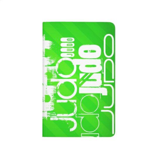 Judo; Neon Green Stripes Journals