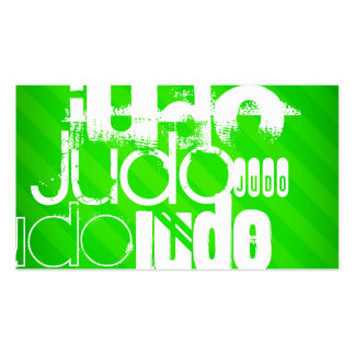 Judo; Neon Green Stripes Pack Of Standard Business Cards