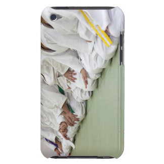 Judo player of the child sits down to one line iPod touch cases