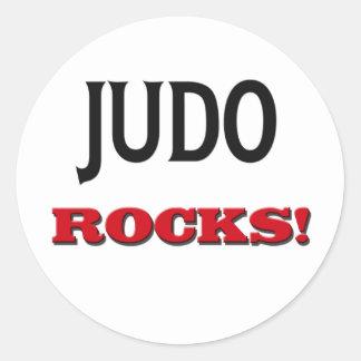 Judo Rocks Round Sticker