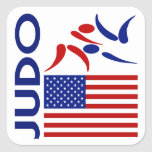 Judo United States Square Sticker