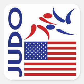 Judo United States Square Sticker