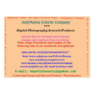 JudyMarisa Eclectic Company, Digital Photograph... Business Card Templates