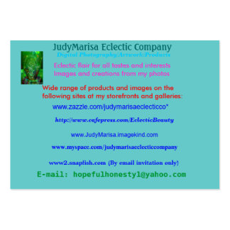 JudyMarisa Eclectic Company, Digital Photograph... Pack Of Chubby Business Cards