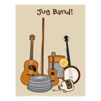 Jug Band Instruments Postcard